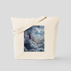 Aerialist Sitting in Clouds Tote Bag