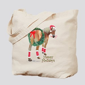 Christmas Draft Horse Belgian Tote Bag