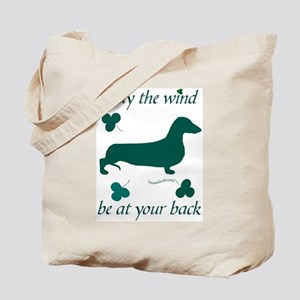 Dachsie and Shamrocks Tote Bag