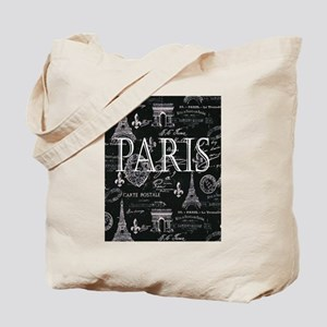 Paris Black and White Tote Bag