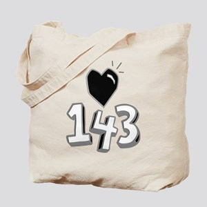 143 means I Love You Tote Bag