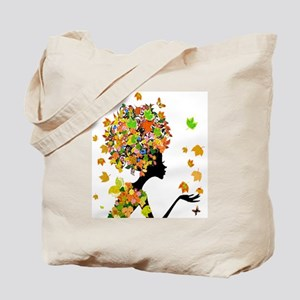 Flower Power Lady Tote Bag
