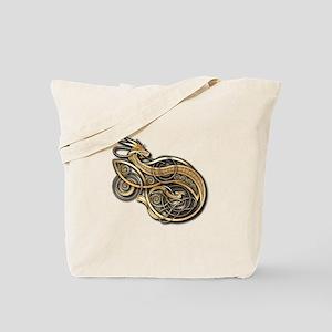 Gold Norse Dragon Tote Bag