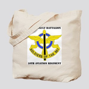 DUI - 2-10th Aviation Regiment with Text Tote Bag
