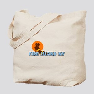 Fire Island - Sunbathing Design Tote Bag