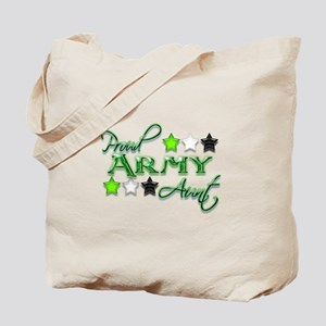 Army Star Aunt Tote Bag