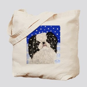 Snowflakes japanese chin Tote Bag