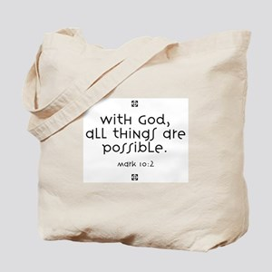 With God Tote Bag