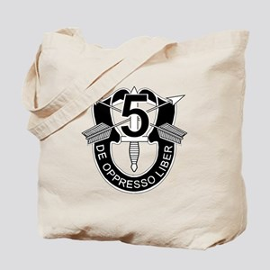5th Special Forces - DUI - No Txt Tote Bag
