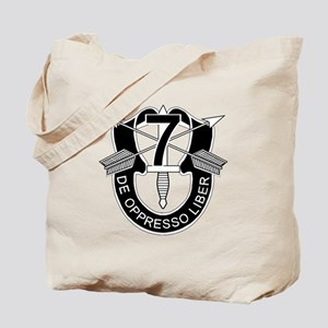 7th Special Forces - DUI - No Txt Tote Bag