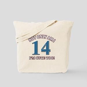 14 year old birthday designs Tote Bag
