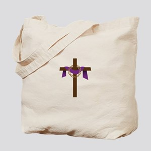 Season Of Lent Cross Tote Bag