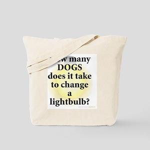 Dogs Change Lightbulb Tote Bag
