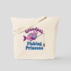 Grandpa's Fishing Princess Tote Bag
