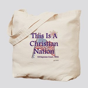 This is a Christian Nation Tote Bag