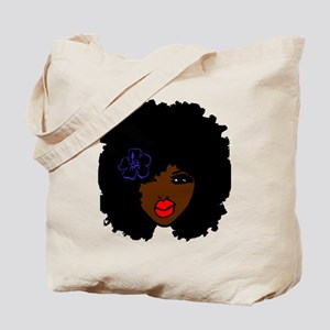 BrownSkin Curly Afro Natural Hair???? Pin Tote Bag