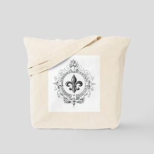 Vintage French Fleur de lis Tote Bag