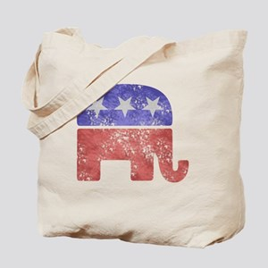 2-RepublicanLogoTexturedGreyBackgroundFad Tote Bag