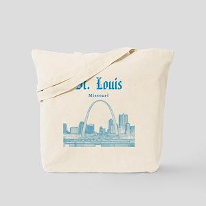 StLouis_12x12_Downtown_Blue Tote Bag