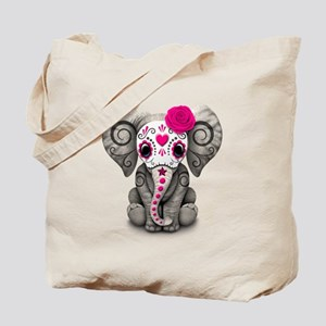 Pink Day of the Dead Sugar Skull Baby Elephant Tot