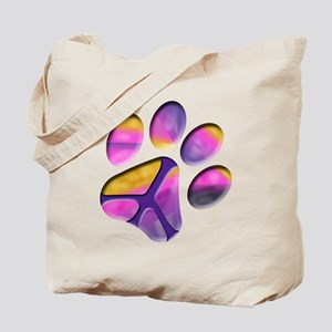 Peaceful Paw Print Tote Bag