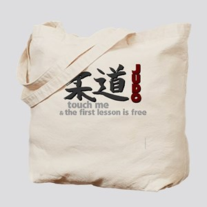 Judo shirt: touch me, first judo lesson f Tote Bag