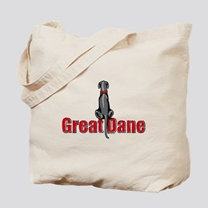 Black Great Dane UC Sit Tote Bag