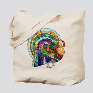 Patchwork Thanksgiving Turkey Tote Bag