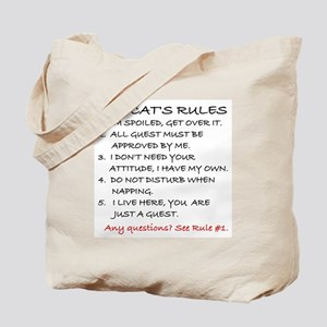 THE CAT'S RULES Tote Bag