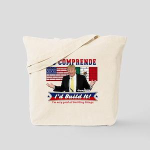 Trump 2016 Mexico US Wall Tote Bag
