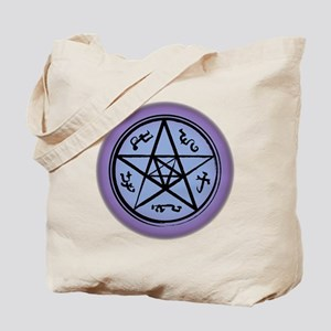 Supernatural Devils Trap Purple Tote Bag