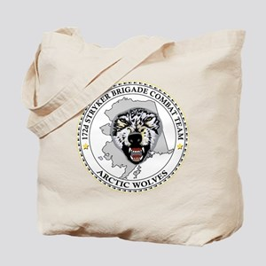 Army-172nd-Stryker-Bde-Arctic-Wolves-Blac Tote Bag