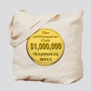 1M_Club_goldcoin_transparent Tote Bag