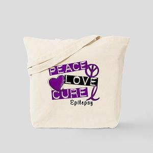 PEACE LOVE CURE Epilepsy (L1) Tote Bag