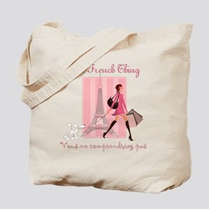 French Thing dark Tote Bag