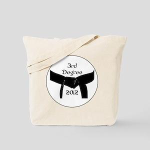Martial Arts 3rd Degree Black Belt Tote Bag
