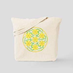 Daffodils Mandala Tote Bag