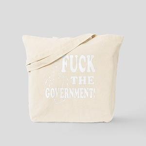 FuckTheGov_plain-dark Tote Bag