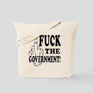 FuckTheGov_plain-clear Tote Bag