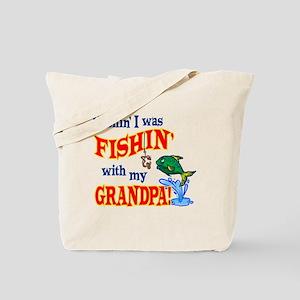 Fishing With Grandpa Tote Bag