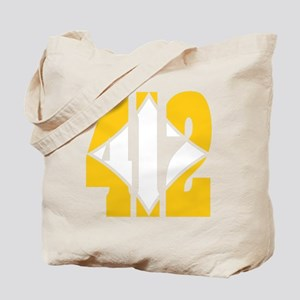412 Gold/Whilte-D Tote Bag