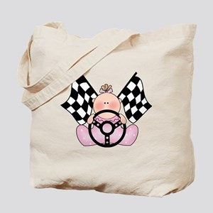 Lil Race Winner Baby Girl Tote Bag