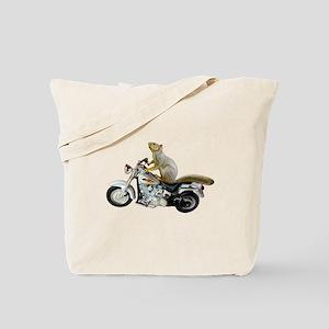 Motorcycle Squirrel Tote Bag