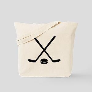 Hockey sticks puck Tote Bag