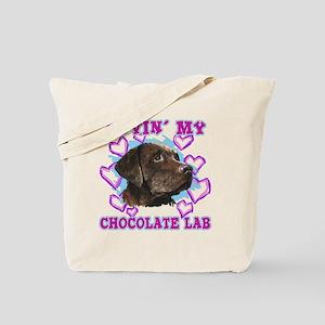 lovin_choc lab_dark Tote Bag