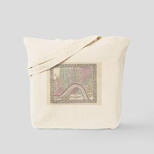 Vintage Map of New Orleans (1880) Tote Bag