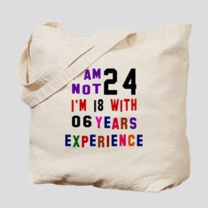 24 Birthday Designs Tote Bag