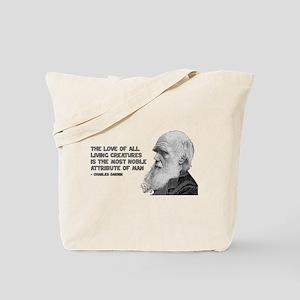 Darwin Portrait - Love of Creatures Tote Bag
