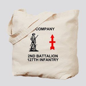 2-127th Infantry <BR>A Co. Tote Bag