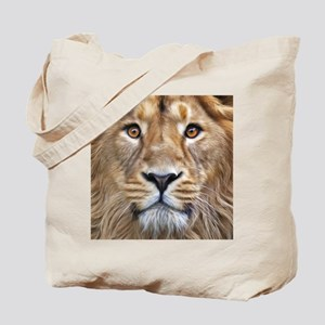 Realistic Lion Painting Tote Bag